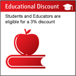 5% Discount for Students and Educators